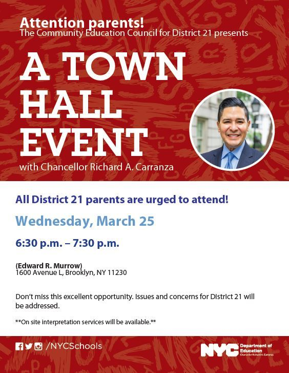 District 21 CEC Town Hall Meeting